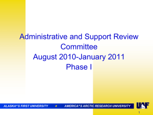 Admin & Support Review (.ppt) - University of Alaska Fairbanks