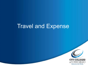 Travel and Expense Overview (PPT)