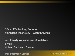 E-Mail Services - Towson University