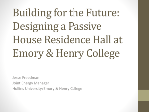 Building for the Future: Designing a Passive House Residence Hall