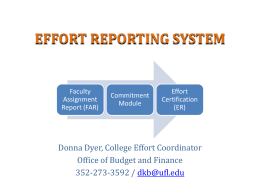 Effort Reporting Presentation