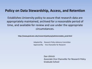 Data Stewardship presentation slides - UW