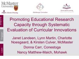 Promoting Educational Research Capacity through Systematic