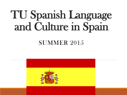 TU Spanish Language and Culture in Spain