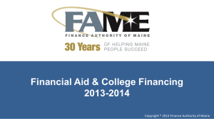 Financial Aid & College Financing 2013-2014