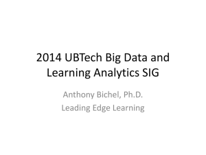 Big Data and Learning Analytics (Bichel)