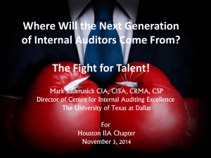 Where will the next generation of auditors come from