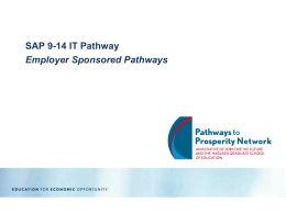 Employer Sponsored Pathways slides