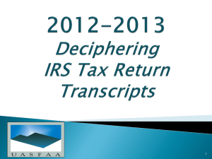 Tax Return Transcript
