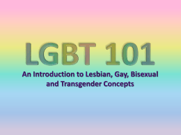 LGBT 101: An Introduction to Lesbian, Gay, Bisexual and