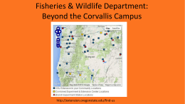 Beyond the Corvallis - Department of Fisheries and Wildlife