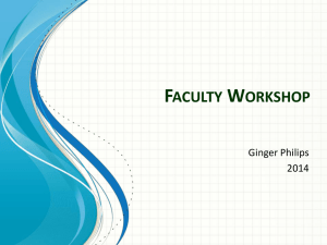 Faculty Workload Presentation