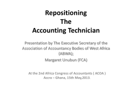Repositioning The Accounting Technician