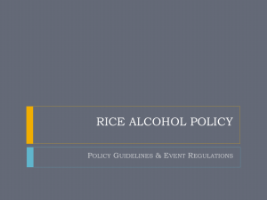 Alcohol Policy Education Presentation
