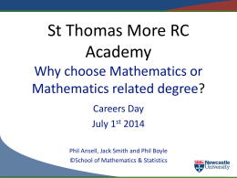 StThomasMore2014 - School of Mathematics and Statistics