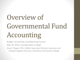 BAR on Fund Accounting - Washington State Board for Community