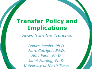Transfer Policies and Implications: Views From the Trenches