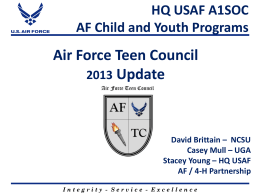 AF Teen Council - 4-H Military Partnerships