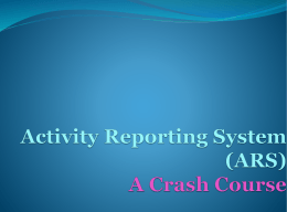 Training for the UIUC On-Line Activity Reporting System