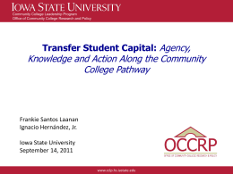 Transfer Student Capital