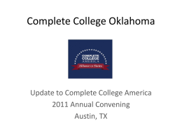 Best Practices from Complete College Oklahoma