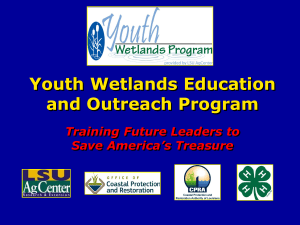 Youth Wetlands Week Overview
