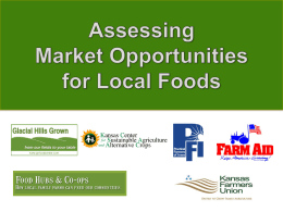 Assessing Market Opportunities for Local Foods