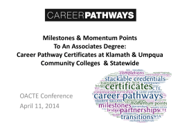 Career Pathway Certificates at Klamath & Umpqua