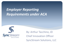 Reporting and Compliance Mandates for ALL Employers within the