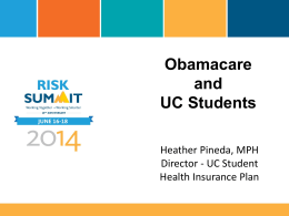 Obamacare Is Good for Students PPT Only