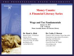 Wage and Tax PowerPoint