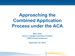 ACAApplicationsSession - American Public Human Services