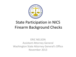 Firearms and Mental Health Background Checks in Washington State