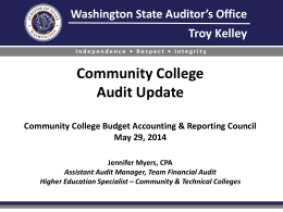 Community College Financial Statement Audits