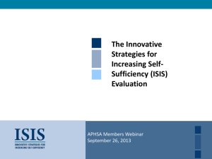 2013-09-ISIS-Evaluation - American Public Human Services