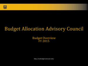 Budget Overvew slides - MU Budget Office