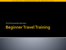 Beginner Travel Training