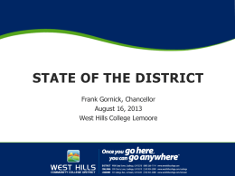 Title of the Presentation - West Hills Community College District