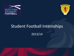 Scottish FA Coaching Internship 2012/13