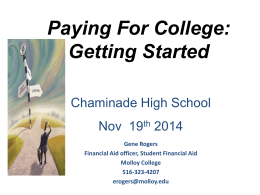 Financial Aid presentation