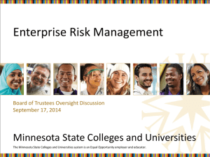 What is risk? - Minnesota State Colleges and Universities