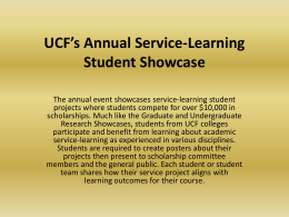 2012 Showcase Powerpoint - Office of Experiential Learning