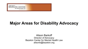 Advocacy Update: A Dialogue with the Bazelon Center by Alison