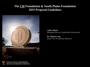 The CH Foundation - Texas Tech University Health Sciences Center