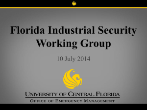 Security and Emergency Management July 2014