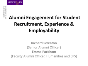 Alumni Engagement for Student Recruitment, Experience
