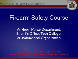 Firearm Safety Course