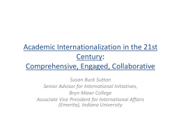 Academic Internationalization in the 21st Century: Comprehensive