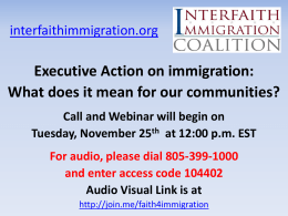 PowerPoint - Interfaith Immigration Coalition