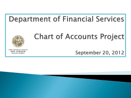 DFS – Charts of Account Project